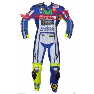 ROSSI YAMAHA MOVISTAR  MOTORBIKE MOTOGP MOTORCYCLE RACING LEATHER SUIT